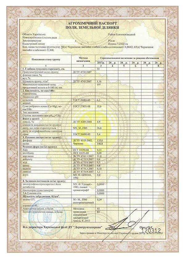 ЮК Армада - Агрохімічна паспортизація орних земель